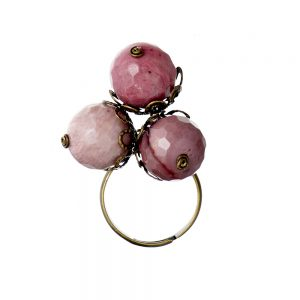 Pepelù - Acorn ring in antique brass