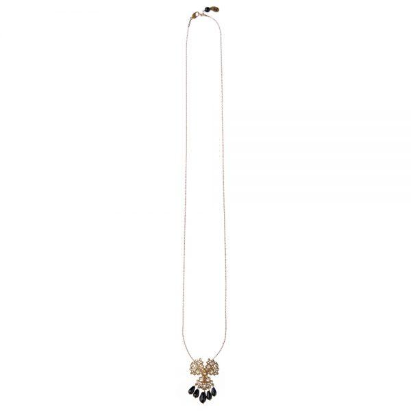 Pepelù - Collana pendente in filigrana e onice nero