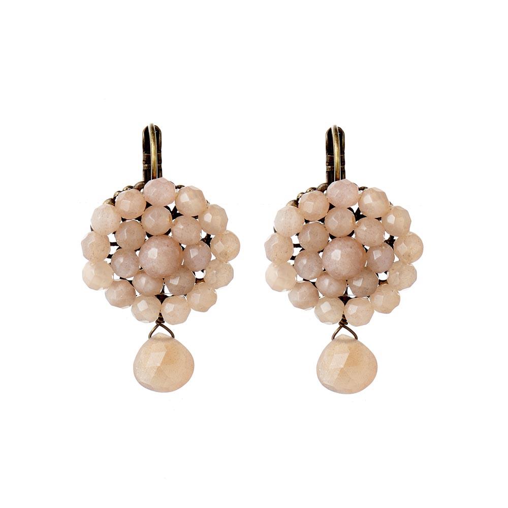 Pepelù - Flower and teardrop earrings
