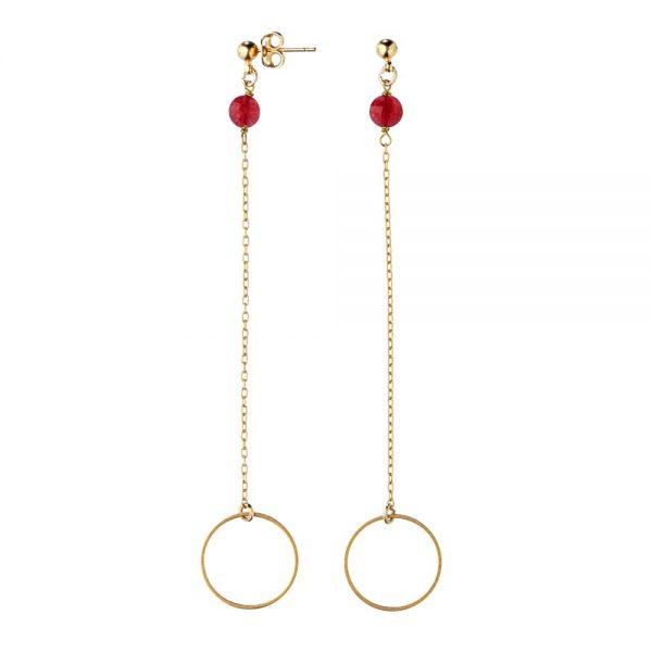 Pepelù - Orecchini in ottone placcato oro con anello finale