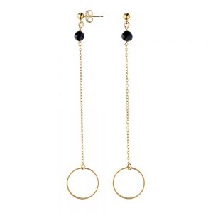 Pepelù - Gold-plated brass earrings with final ring