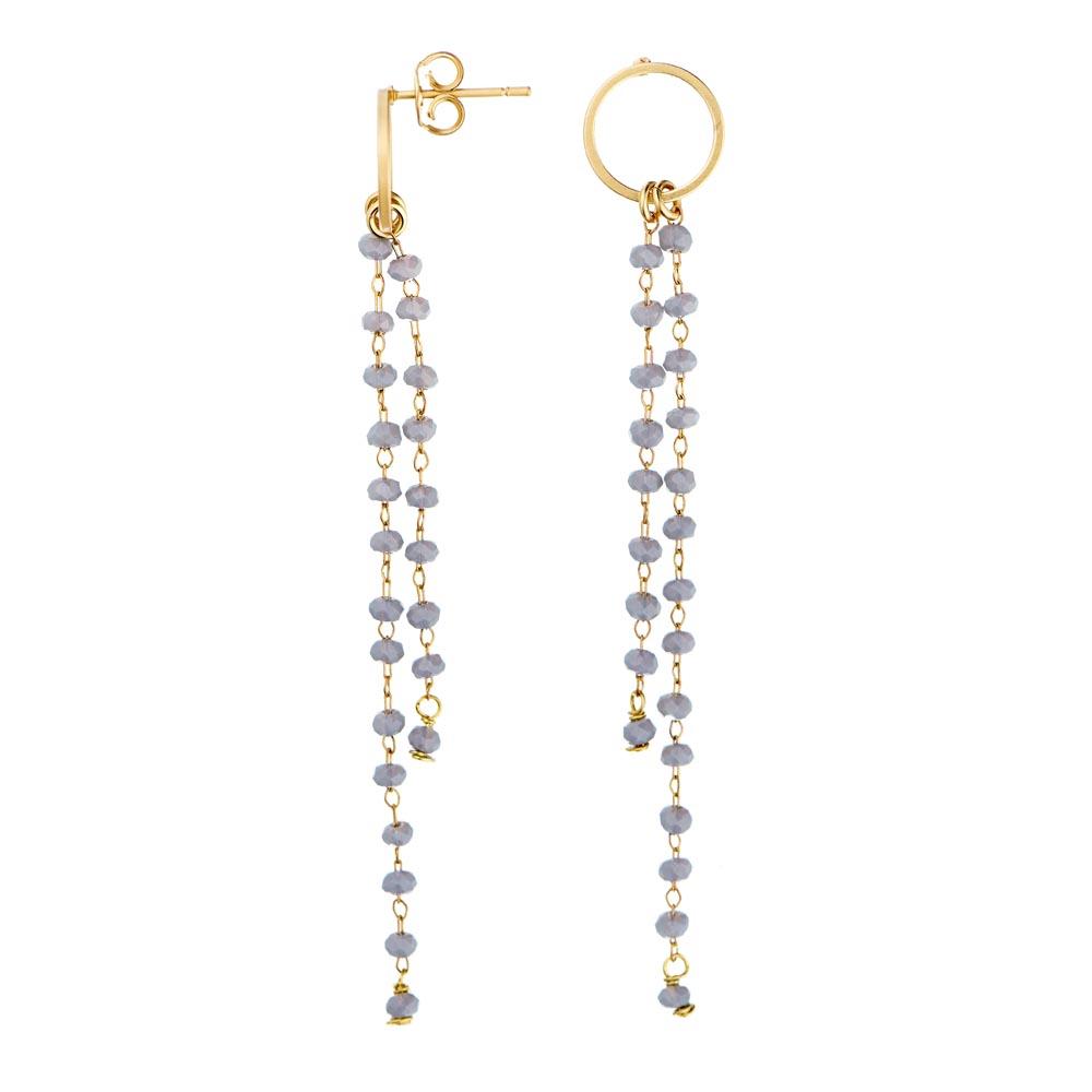 Pepelù - Hoop earrings with tassel