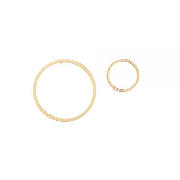 Pepelù - Orecchini cerchio asimmetrici