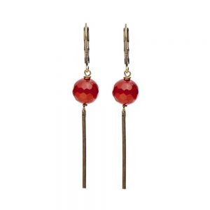 Pepelù - Midi pendant earrings in brass and semi-precious stones