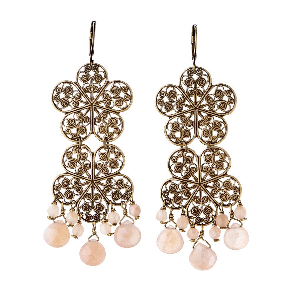 Pepelù - Filigree flower earrings