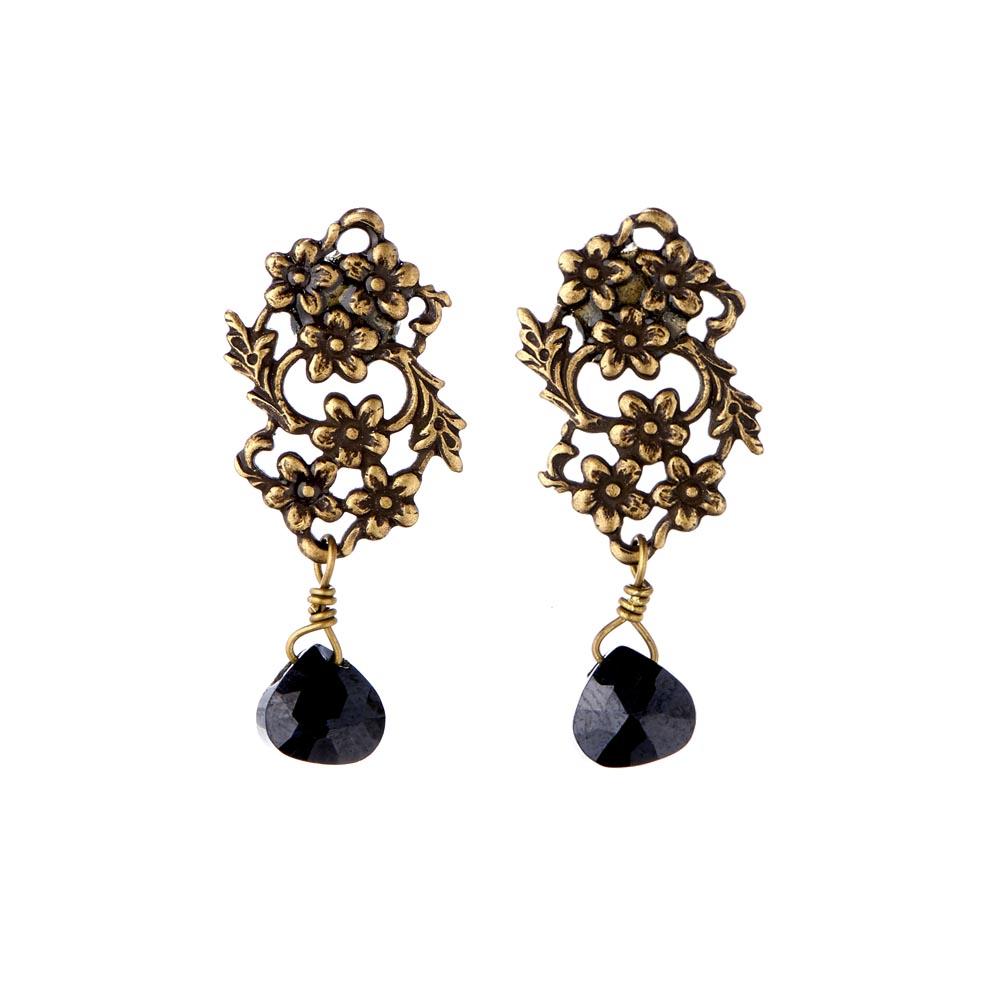 Pepelù - Retro-style filigree flower earrings