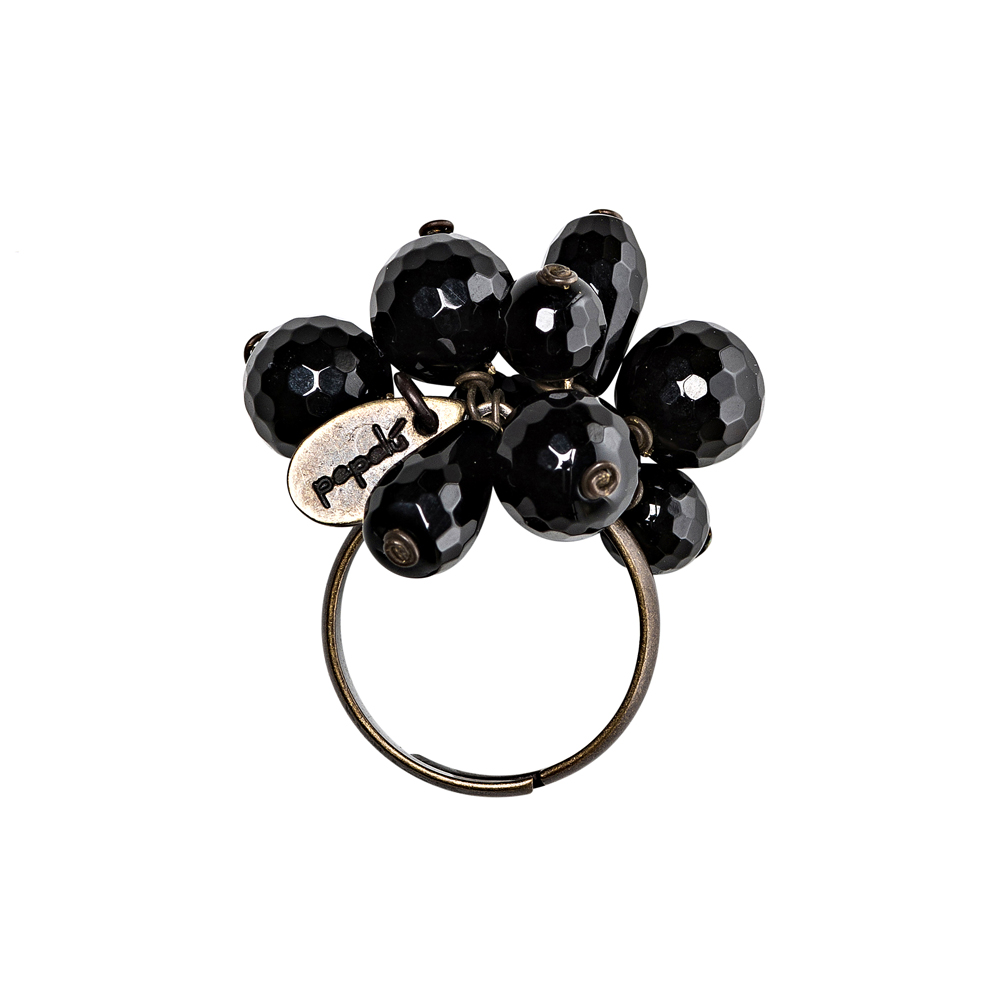 Pepelù - Vintage brass ring and semi-precious stones