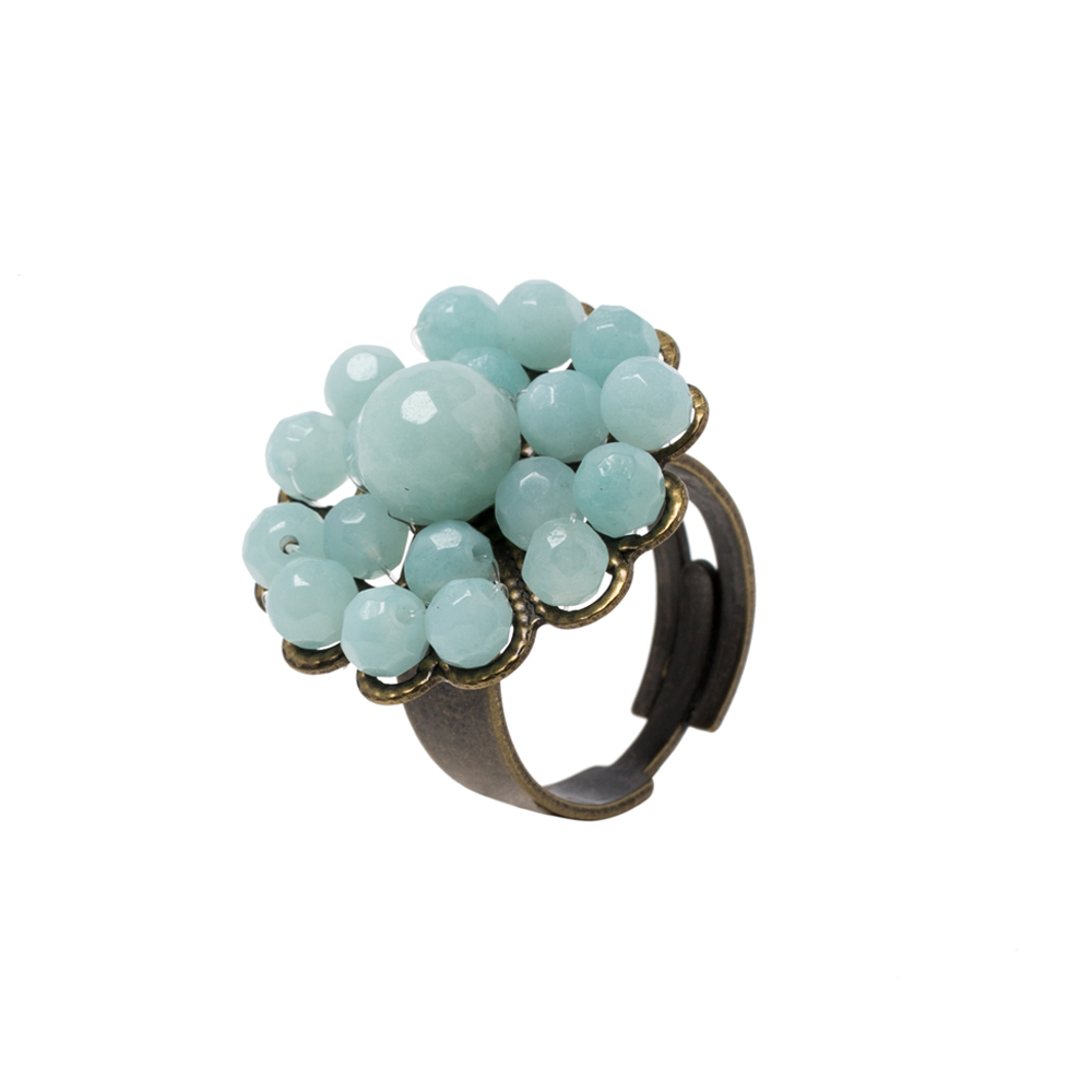 Pepelù - Ring flower filigree vintage brass