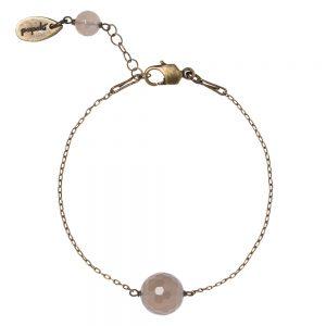 Pepelù - Bracciale catena sottile in ottone e pietre dure