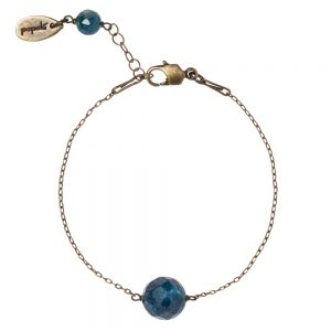 Pepelù - Bracciale con catena sottile in ottone e pietre dure