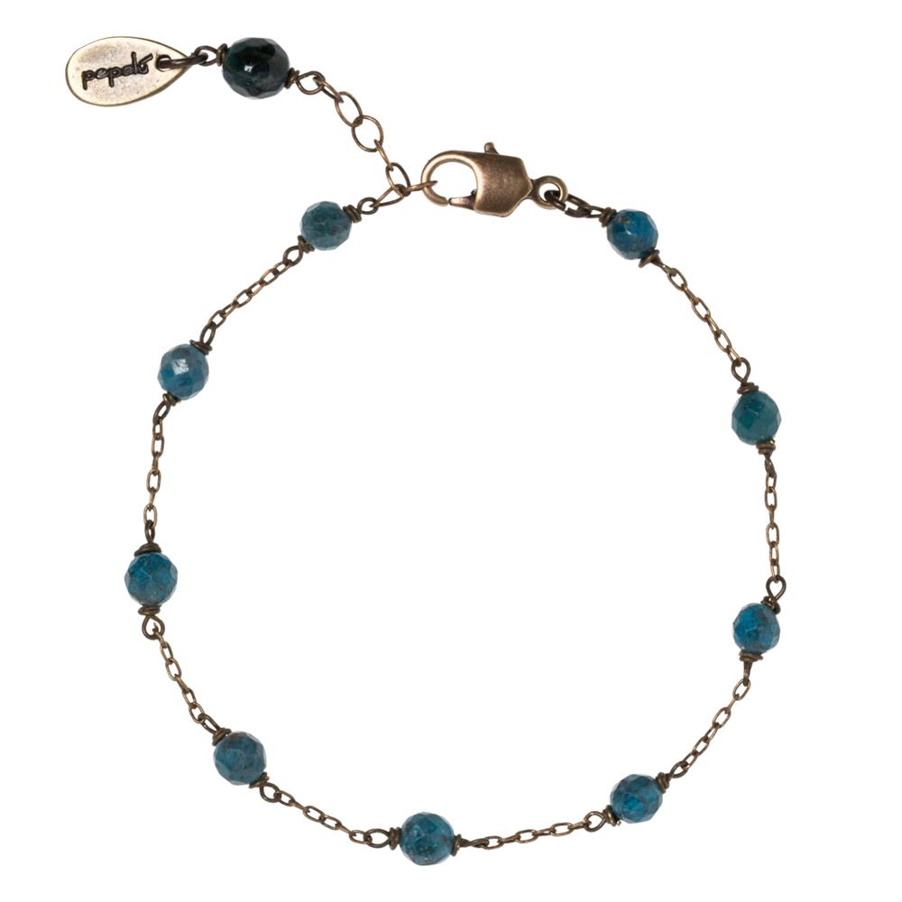 Pepelù - Vintage brass bracelet and semi-precious stones