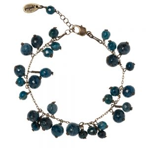 Pepelù - Bracelet in vintage brass with clusters of semi-precious stones