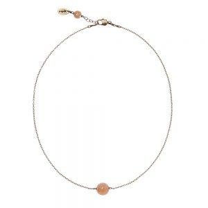 Pepelù - Girocollo catena sottile in ottone e pietre dure