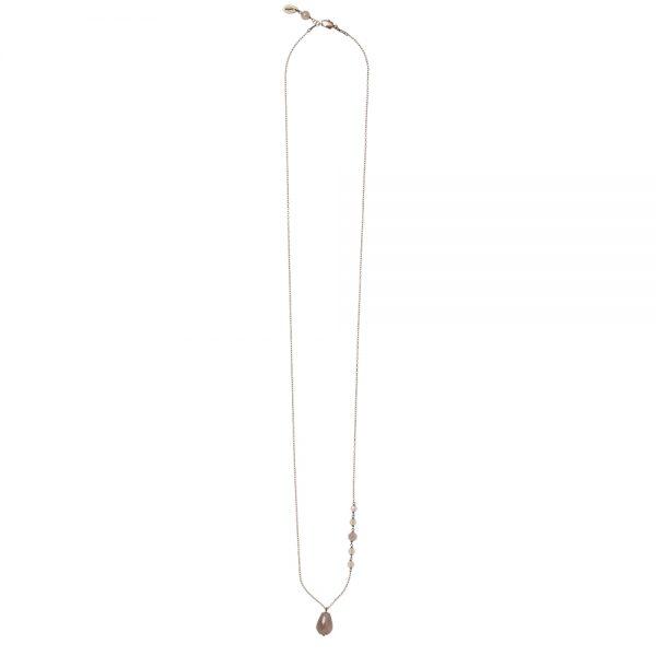 Pepelù - Collana catena in ottone anticato e goccia