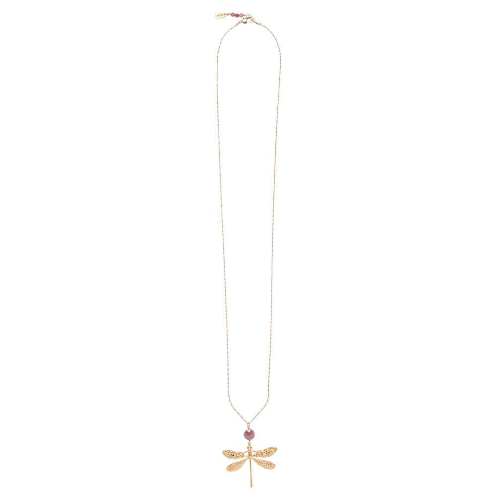 Pepelù - Brass gold plated dragonfly necklace