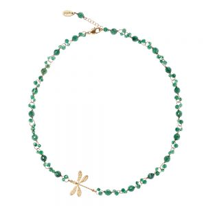 Pepelù dragonfly necklace and semi-precious stones