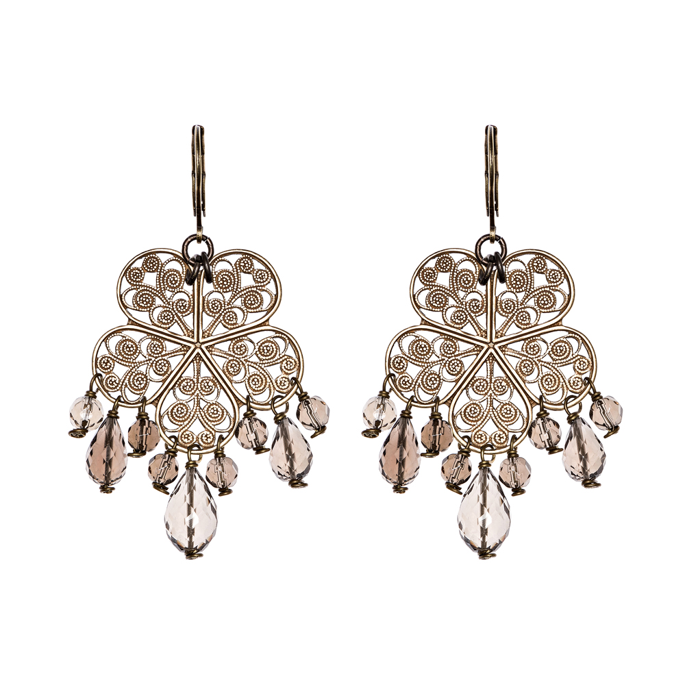 Pepelù - Filigree flower earrings