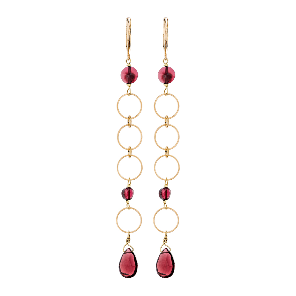Pepelù - Earrings with rings and drops