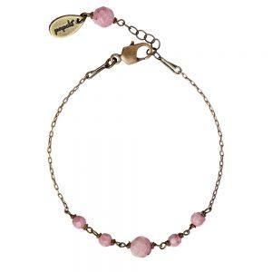 Pepelù - Antique brass bracelet with semi-precious stones