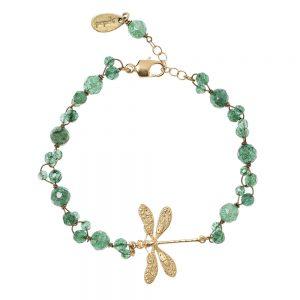 Pepelù - Dragonfly bracelet and semi-preciuos stones