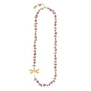 Pepelù - Dragonfly necklace and semi-precious stones