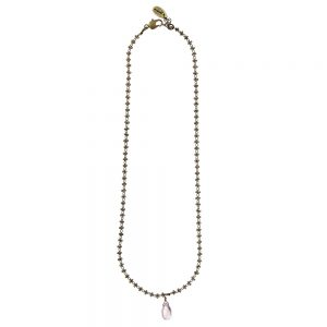 Pepelù - Short necklace with teardrop