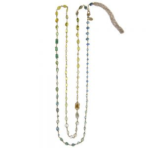 Pepelù - Long-size necklace in brass and semiprecious stones