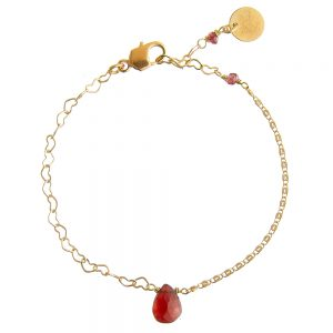 Pepelù - Teardrop bracelet with heart and infinity chains