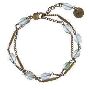 Pepelù - Bracciale a doppia catena e pietre semipreziose