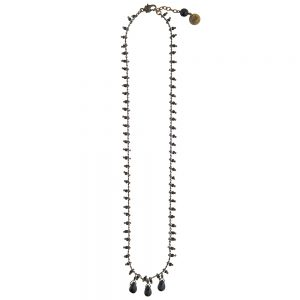 Pepelù - Multi-bead necklace with teardrop