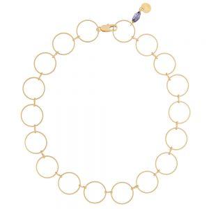 Pepelù - Collarino geometrico con anelli