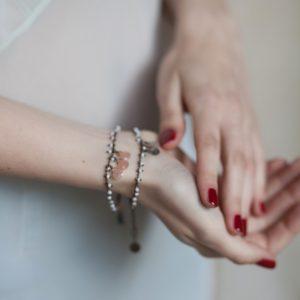 Pepelù - Multi-bead and teardrop bracelet