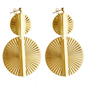 Pepelù - Double gilded disc earrings