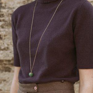 Pepelù - Collana lunga con pietra sferica