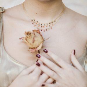 Pepelù - Girocollo micro pietre ciondoli