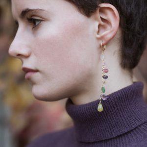 Pepelù - Orecchini Arcobaleno pendenti colorati