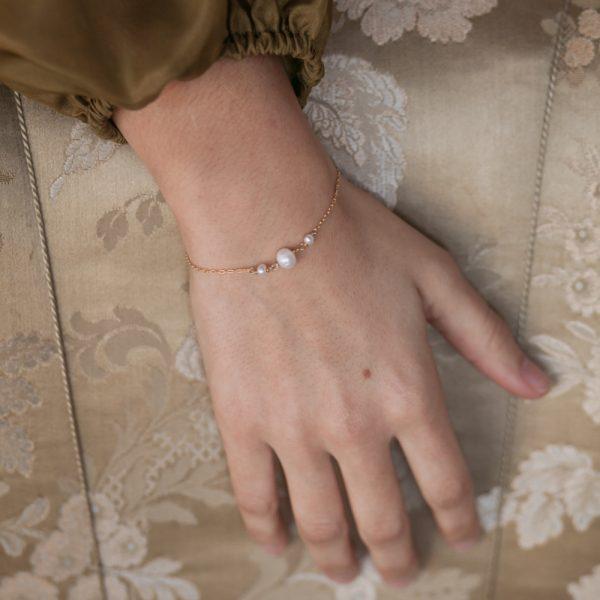Pepelù - Bracciale con perle di fiume in degradè