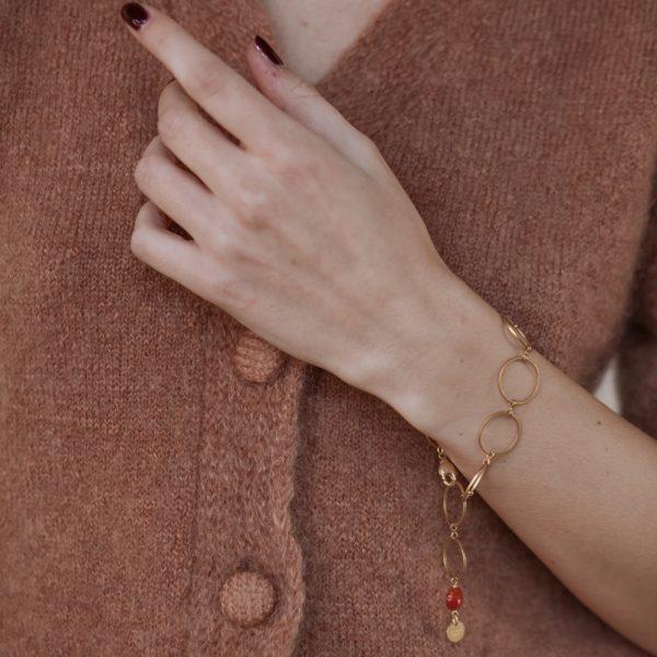 Pepelù - Bracciale geometrico con anelli