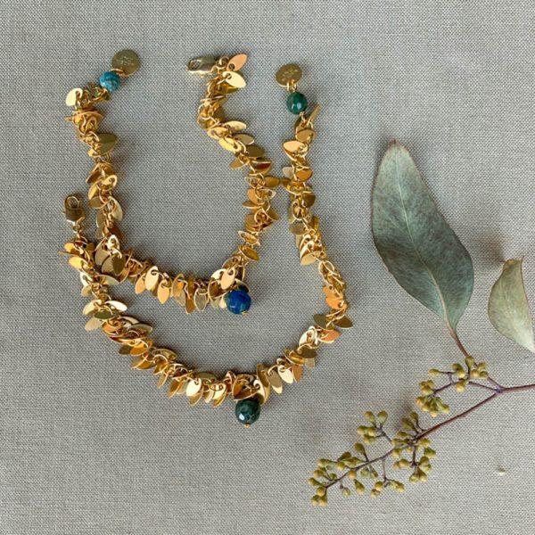 Pepelù - Bracciale micro medagliette e pietre