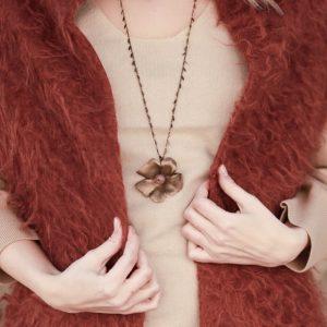 Pepelù - Collana lunga anemone